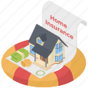 building insurance, home insurance, home insurance document, landlord insurance, property insurance, real estate insurance icon