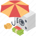 credit insurance, credit protection, credit safety, deposit insurance, money insurance icon