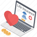 insurance plans, life care policy, life policy protection, online life insurance, online life policy icon
