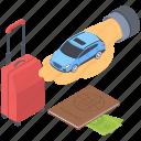 car insurance, luggage safety, transport insurance, travel insurance, travel safety icon