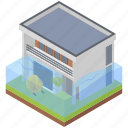 disaster flood, flooded building, flooded home, flooded house, natural disaster, water flood icon