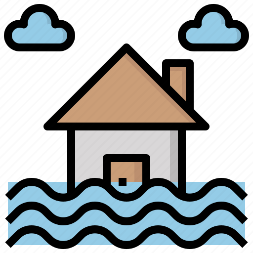 flood, flooded, floods, level, sea, water, weather icon