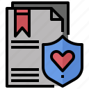 contract, document, love, marriage, romance, wedding icon