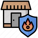 estate, fire, insurance, mortgage, property, protection, real icon