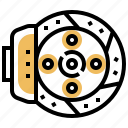 automotive, brake, disc, part, spare icon