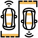 automotive, car, driverless, parking, vehicle icon
