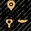 meter, mile, mileage, navigation, speed icon