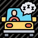 car, dangerous, driving, sleep, vehicle
