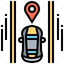 car, gps, navigation, pin, satellite icon