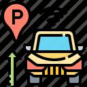 car, parking, self, sensor, wireless icon