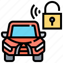 car, lock, protection, security, vehicle icon