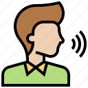 command, human, people, speech, voice icon