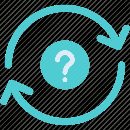 question, refresh, renew icon