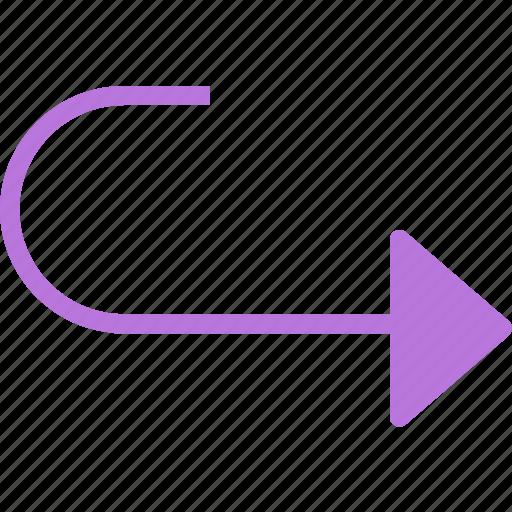 arrow, forward, go, play, return icon