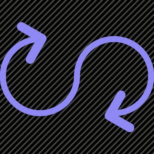 arrowarrow, arrows, circle, direction, point, round icon