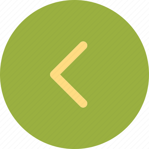 arrow, arrowleft, circle, round icon