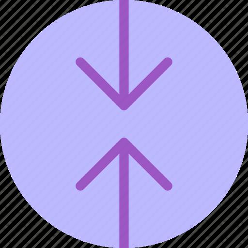 arrow, arrowsup, circle, down, point, upload icon