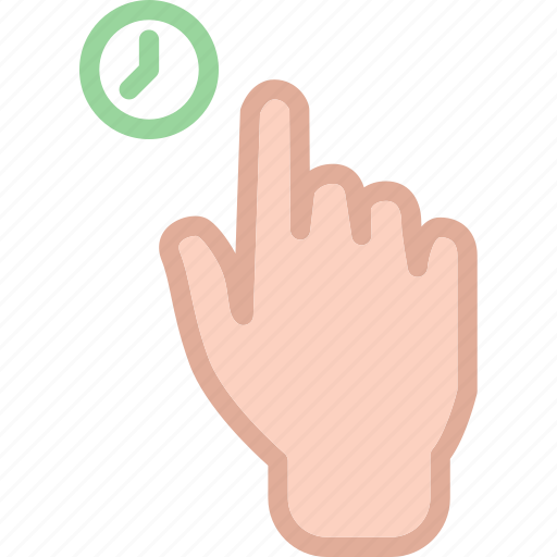 hand, hold, time, touch icon