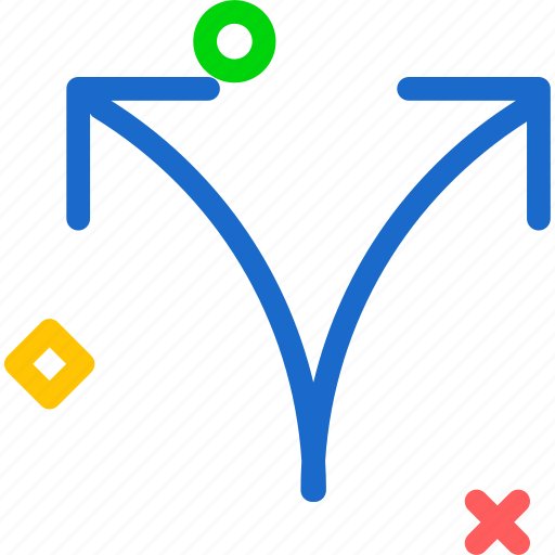 arrows, circle, directions, focus, multiple, point, show icon