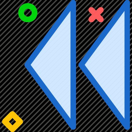 backward, play, reverse, rewind icon