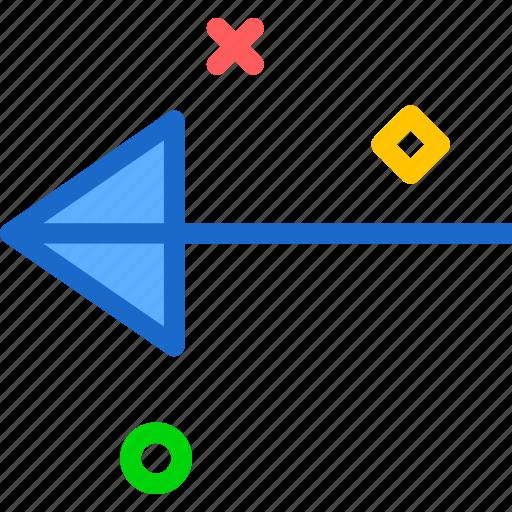 arrow, arrows, circle, direction, left, point icon