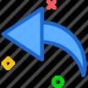 arrow, curve, left