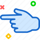 arrow, finger, hand, interaction, touchleft icon