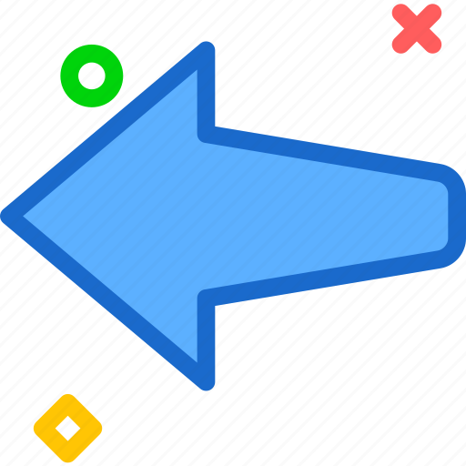 arrow, left, way icon