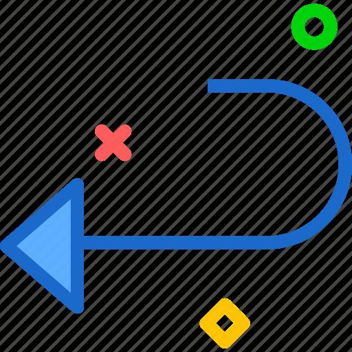 arrow, go, left, return icon