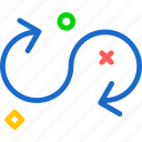 arrowarrow, arrows, circle, direction, point, round icon