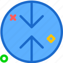 arrow, arrowsup, circle, down, point, upload icon