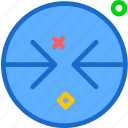 arrow, arrowsleft, circle, forward, point icon