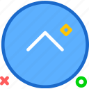 arrow, arrowup, circle, round, upload icon
