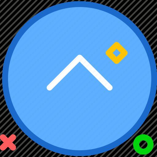 arrow, arrowup, circle, round, upload icon