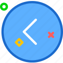 arrow, arrowleft, circle, round icon