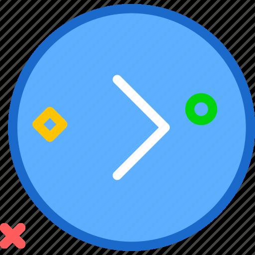 arrowright, circle, forward, play, right, round icon