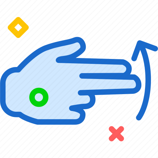 arrow, finger, hand, interaction, touchsup, upload icon