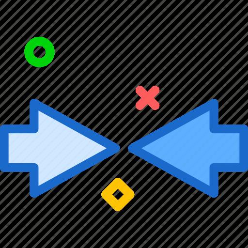 arrows, circle, focus, point, show icon