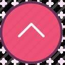 arrow, arrowup, circle, round, upload