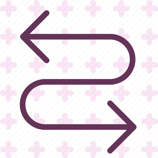 arrow, confused, nodirection icon