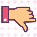 accept, agree, dislike, down, vote, voteup icon