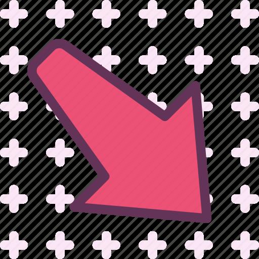 arrow, direction, down, forward, play icon
