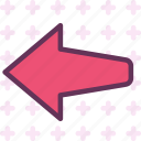 arrow, left, way icon