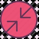 arrowsdbackslash, circle, point