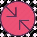 arrowsslash, circle, point