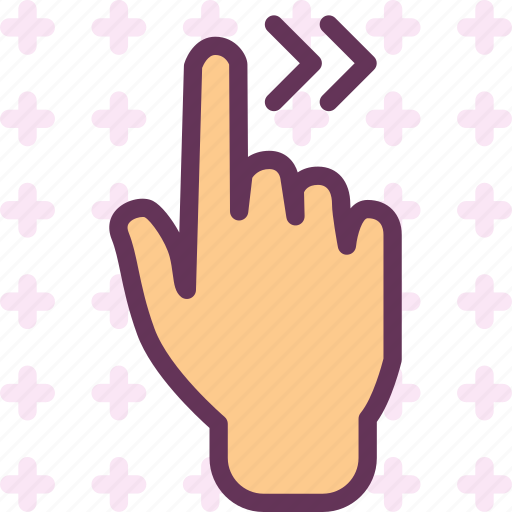 arrow, forward, gesture, hand, play, repeat icon
