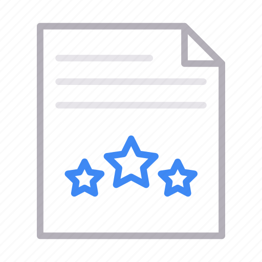 document, feedback, file, rating, sheet icon