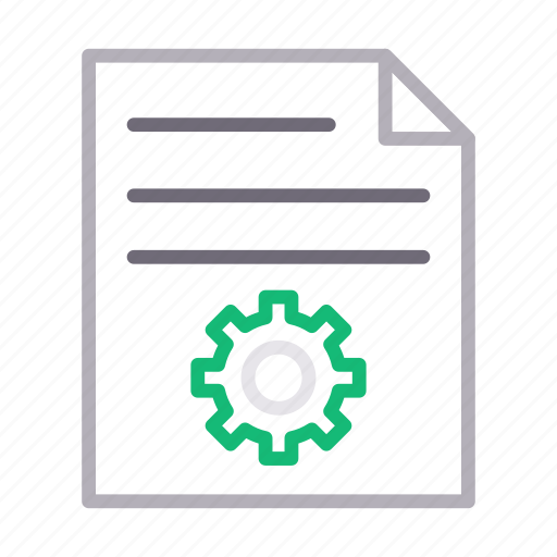 document, file, preference, project, setting icon