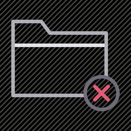 cancel, delete, directory, files, folder icon