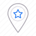 gps, location, map, pin, starred icon